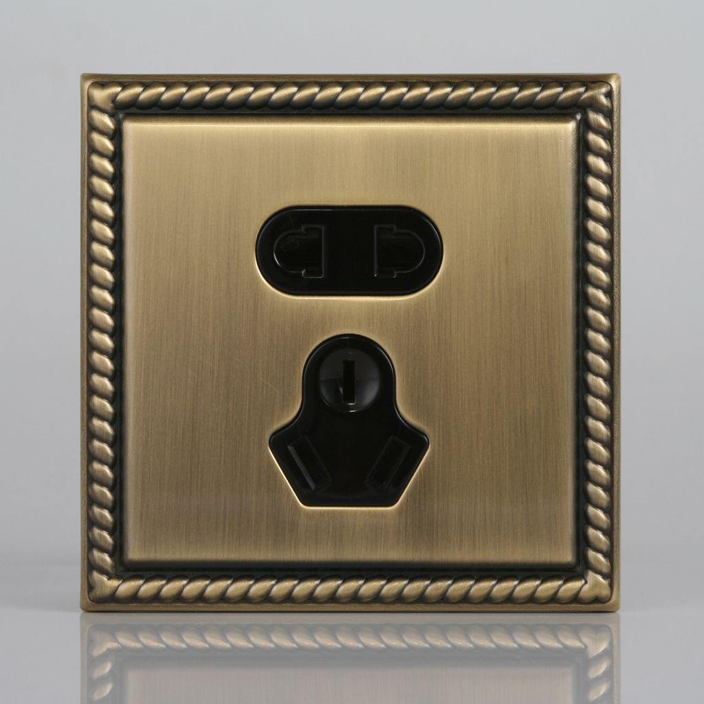 t&j天基电气凯撒系列墙壁电源开关插座面板 青古铜