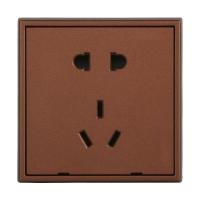 天基德尚系列80型开关插座面板 咖啡金色