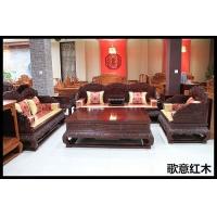 红酸枝红木家具价格荷花宝座沙发