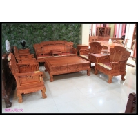 缅甸花梨木大款沙发,缅甸花梨木大款沙发福满人间