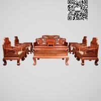 歌意红木家具品牌花梨木组合沙发