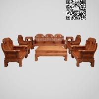 歌意红木家具厂花梨木大款象头组合花梨沙发