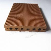 生态木平面板140圆孔地板 园林环保装饰地板防腐耐磨