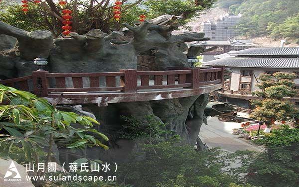 梅州客天下客栈榕树景观,GRC仿真树,人工假树