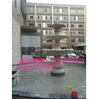 欧式砂岩喷泉雕塑 人造砂岩跌水盆 黄锈石欧式喷泉