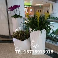 玻璃钢花盆|园艺景观花钵|树脂菱形商场花钵