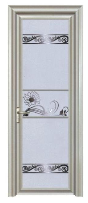 铝合金卫生间玻璃平开门