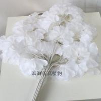 仿真白银杏叶婚庆装饰树叶配材假树叶植物舞台道具许愿树叶白银杏
