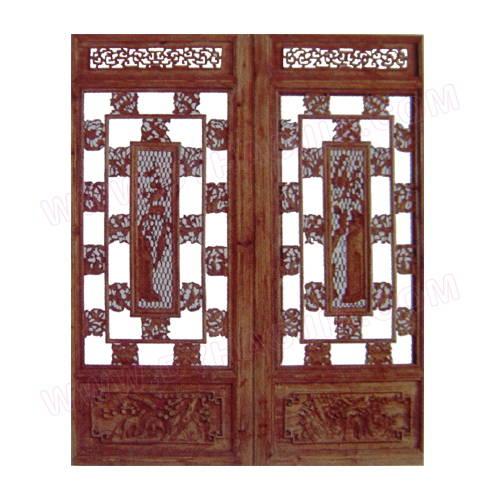 木雕门产品图片,木雕门产品相册 - 西安仿古木雕有限