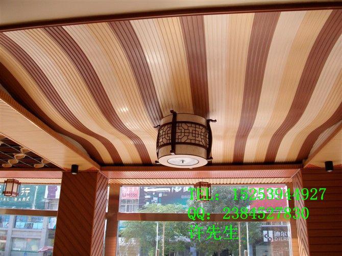 家装店面装修阻燃板用生态木效果高清图片