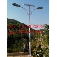 石家庄电线杆上有一盏石家庄太阳能路灯