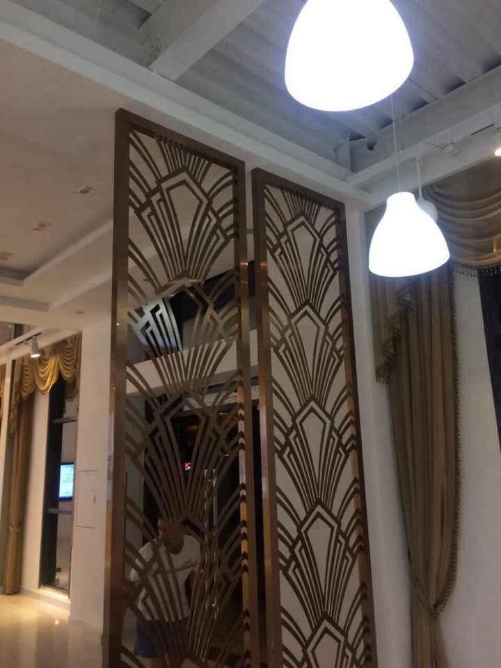 不锈钢屏风,酒店大堂背景隔断屏风