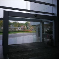 办公室玻璃自动门指纹打卡玻璃移门