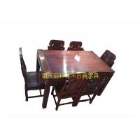 紅檀方形餐桌