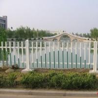 供应沙河市道路绿化草坪护栏 隔离岸边PVC塑钢护栏