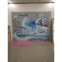 天津背景墙 玻璃装饰工艺画