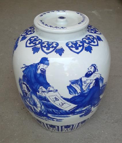陶瓷容器酒坛子制作图片花色图案