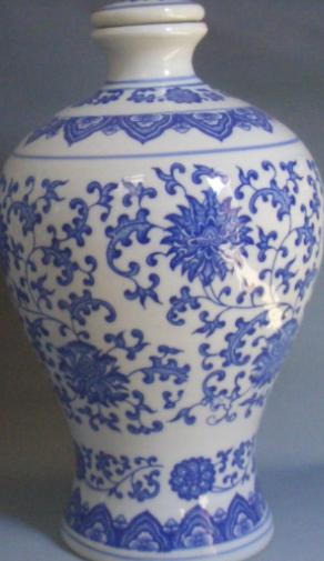 青花陶瓷瓷器酒瓶图片图案梅瓶酒瓶天球瓶酒瓶瓷瓶容器