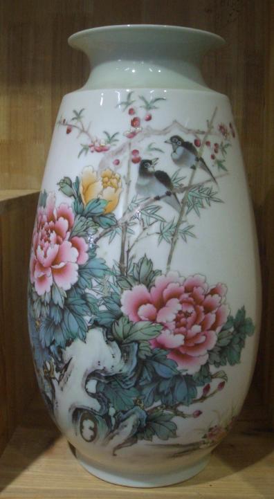 陶瓷器皿花瓶制作陶瓷立柱瓶箭筒伞筒图片图案绘画