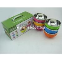 便宜塑料不锈钢隔热碗双层汤碗