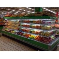 超市环岛柜定做,四面开放超市中心立风柜,低温酸奶冷藏柜