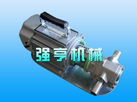福建强亨WCB不锈钢微型手提式齿轮泵输送液体不可含固体颗粒