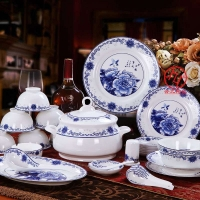 开业礼品陶瓷餐具、纪念礼品陶瓷餐具、景德镇餐具定做