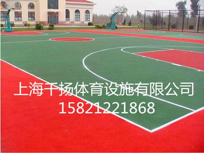 塑胶篮球场铺装,塑胶篮球场设计