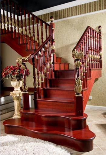 大连实木楼梯,楼梯实木定制,楼梯装修效果图,楼梯设计
