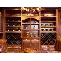 大连实木酒柜,实木酒窖,酒窖设计,酒柜,龙桥家居酒柜