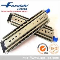 FOXSLIDE三节滚珠重型自锁工业抽屉滑轨