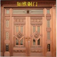 供应子母铜门复合铜门豪华精雕铜门