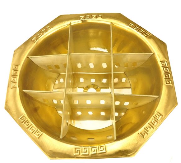 祥赛贝电磁炉火锅盆九宫格铜火锅重庆九宫格涮肉锅电磁炉专用铜