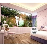 大型无缝壁画卧室婚房儿童房客厅电视背景墙相片定制墙纸壁纸