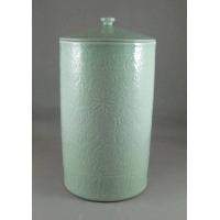 景德镇窑盛陶瓷影青刻花盖罐