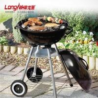 龙莱家用加厚中号带轮子木炭烧烤炉