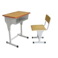 批发学生升降单人课桌椅