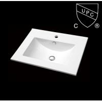 直销浴室柜厂配套CSA认证陶瓷一体式薄边盆柜盆SN1