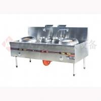 火头军厨房设备-工程炉灶系列-港式工程双炒双温灶