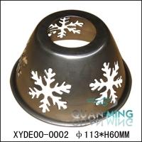 铁艺半旋压半手工制品雪花镂空铁艺灯罩