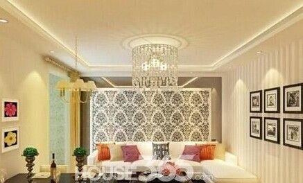 客厅石膏线吊顶效果图 精雕细琢出珍品