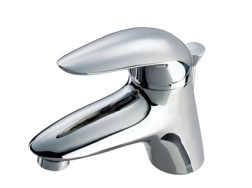 铜合金台式单柄双控洗面器水嘴