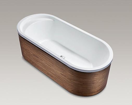 LOVEE™ 乐芙木裙独立式铸铁浴缸
