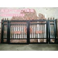 天津电动铁艺大门,电动平移门,铝艺庭院门