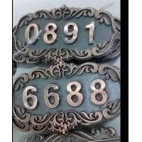 高档仿古铜酒店门牌定制 欧式小区餐厅包厢门号牌房号牌标志牌