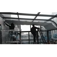 阳光房轨道电动遮阳棚双轨折叠式天棚帘