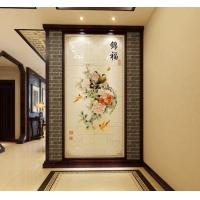 百士豪瓷砖背景墙 中式玄关背景墙瓷砖 锦福
