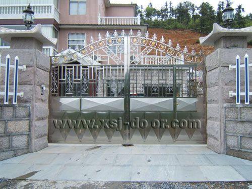 304不锈钢智能庭院门 院墙门 围墙门