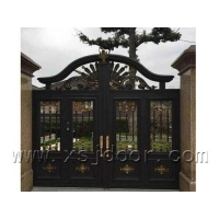 铸铝别墅院墙门 遥控铝艺围墙门 临安围墙门