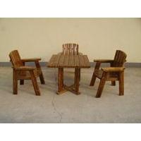 供河北碳化木桌椅木栅栏